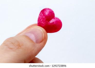 Holding a little heart