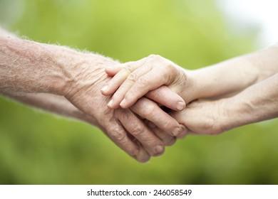 Holding Senior Hands