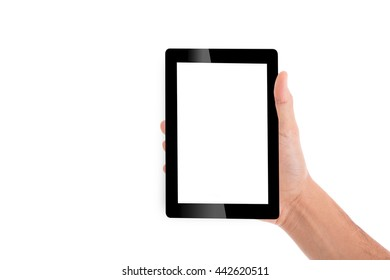 Holding tablet pc with hands for your work business communication.