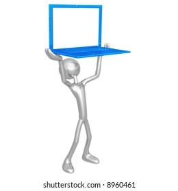 Holding Ultra Thin Laptop Frame