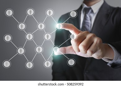 Holding virtual icon of social network