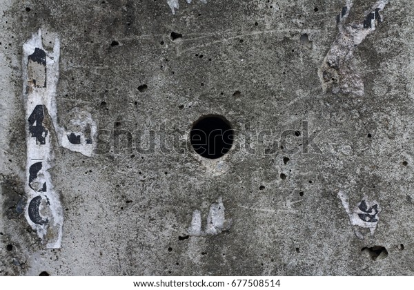 Hole Center Electrical Cement Post Stock Photo (Edit Now