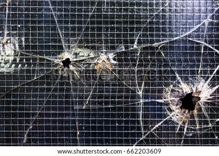 Hole Glass Door Texture Stock Photo Edit Now 662203609 Shutterstock