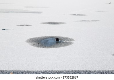 hole in the ice for fishing