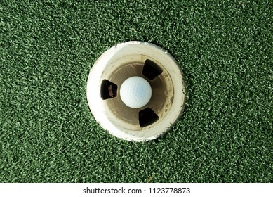Hole in one in the sport of Golf.