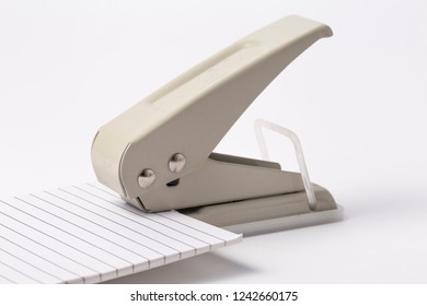hole puncher on a white background. Office supplies punch