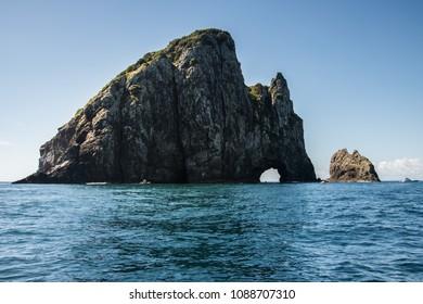 Hole in the rock, rock in the ocean