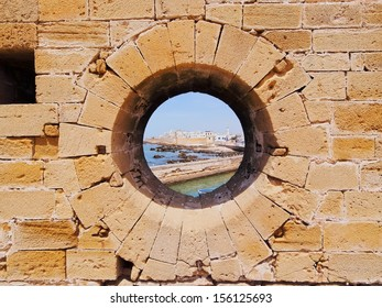 Hole in a Wall of Essaouira - coastal town founded by the Portuguese in Morocco, Africa
