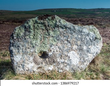 Holed Stone, Ancient Site, Truthwall Common, near St Just, Cornwall UK