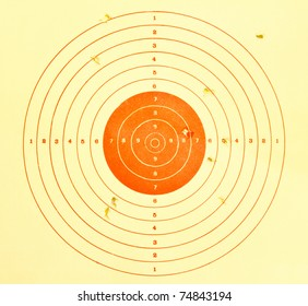 Holes in target, sport background