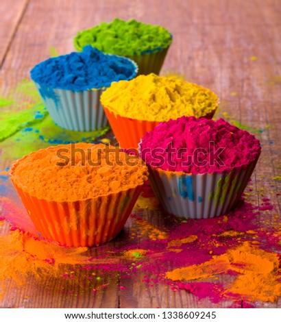 Holi Color Powder Organic Gulal Colours Stock Photo (Edit Now ...