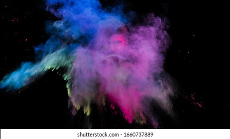 Holi color splash. holi is a festival of India. It is festival of colors and Joy. It is also called as Dhuleti.