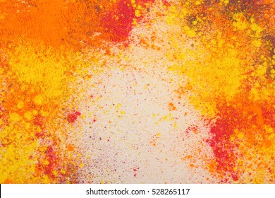 Holi colors background. Celebrate festival Holi. Indian Holi festival of colours.