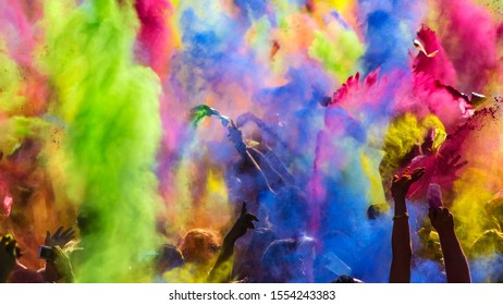 Holi festival celebration in India, Holi is a popular Hindu festival, originating from the Indian subcontinent. It is celebrated predominantly in India, Nepal, and also spread some countries.