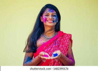 Holi Namaste Female Shirt