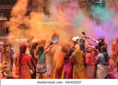 Holi festival in Nepal or India