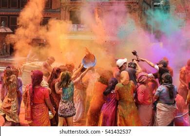 Holi festival in Nepal or India