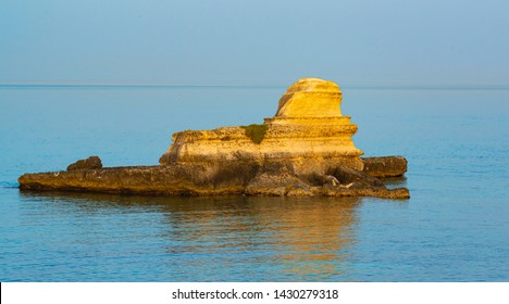 Holiday in Apulia. View faraglione of Torre Sant'Andrea coast (St. Andrew tower) - Melendugno,, Apulia, Salento, Italy.
