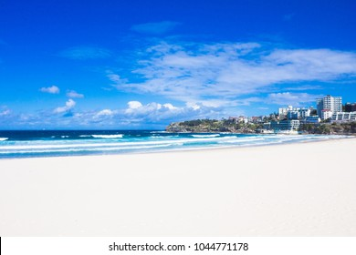 Holiday in Australia - Bondi Beach view with blue sky