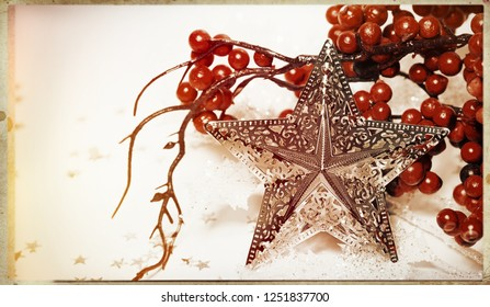 Holiday background with star - retro sytle design