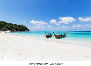 Holiday in Beautiful Island of Koh Lipe Sunset with coral, at Satul Thailand.