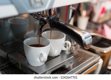 holiday black coffee on coffee maker