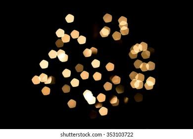 Holiday blurred lights