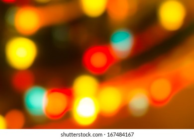 holiday bokeh blurred on a dark background