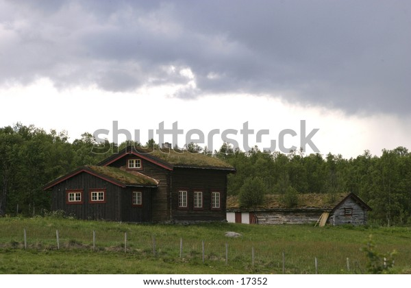 A holiday cabin in northern norway.
