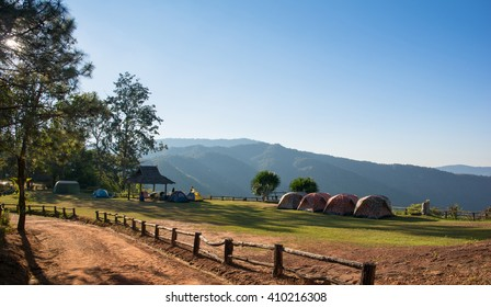 Holiday camping and Sunset in Phu Suan Sai Nationnal Park,Thailand