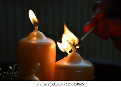 holiday candle light