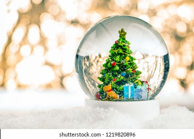 Christmas In Evergreen Snow Globe.Snowglobe Christmas Images Stock Photos Vectors