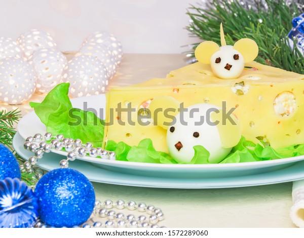 Holiday Christmas Salad 2020 New Year Stock Photo (Edit Now