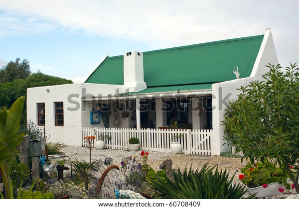 Holiday Cottage Picturesque Garden Paternoster Small Stock Photo