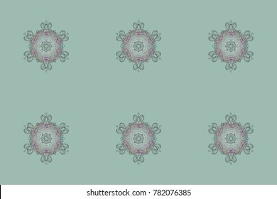 Holiday design for Christmas and New Year fashion prints. Neutral, gray and pink snowflakes. Christmas cute background with snowflakes abstract background. Neutral, gray and pink colors. Raster sketch
