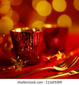 Holiday Dining with candle light