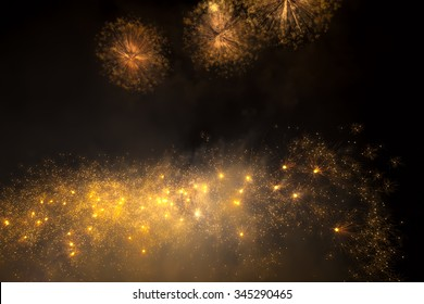 Holiday firework in night sky