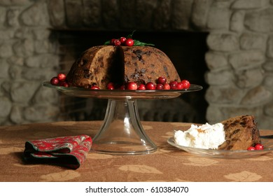 Holiday fruit cake at Christmas.