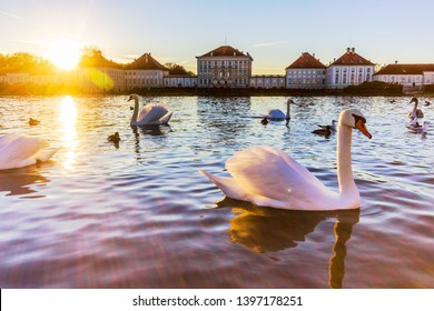 Holiday in Germany : Nymphenburg Palace view during Autumn