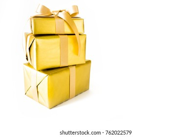 Holiday gift boxes. Birthday, party or New Year.