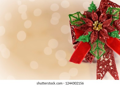 Holiday greeting card with room for text