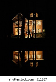 holiday house reflection