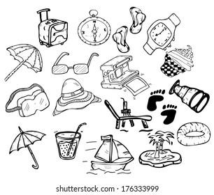 holiday item set -doodle