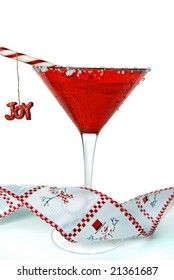 holiday martini with ornament