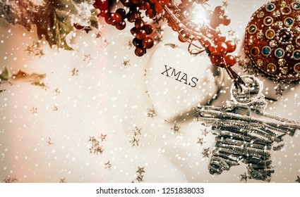 Holiday New Year background -retro sytle