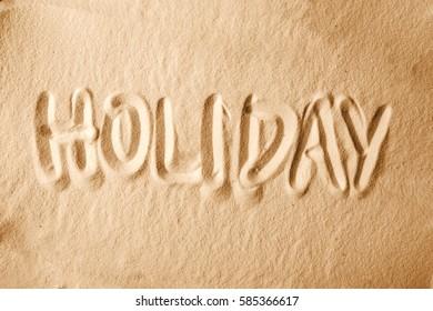 Holiday on sandy beach, Summer concept