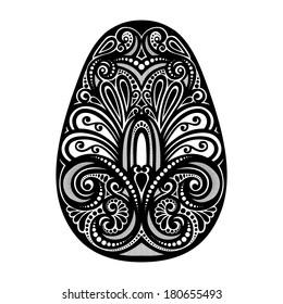 Holiday Ornate Easter Egg. Patterned Design