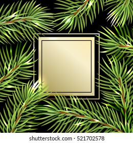Holiday pattern. Christmas decoration. Christmas tree.
