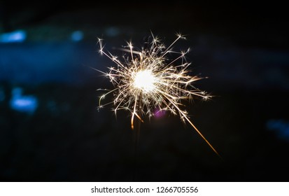 holiday pyrotechnics , pyro ,fireworks in hand, firework at night , lights - Image