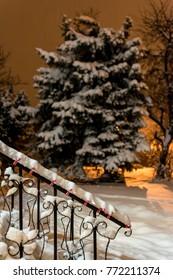 Holiday season snow